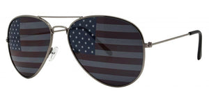 6-2139GG American Flag Aviator Sunglasses