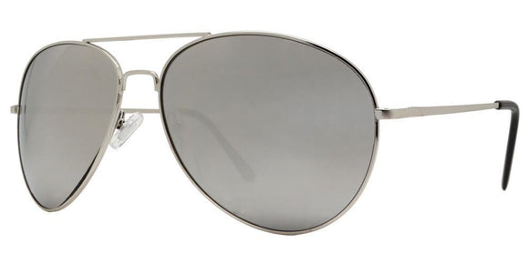 f6143ez Large Silver Mirror Aviator