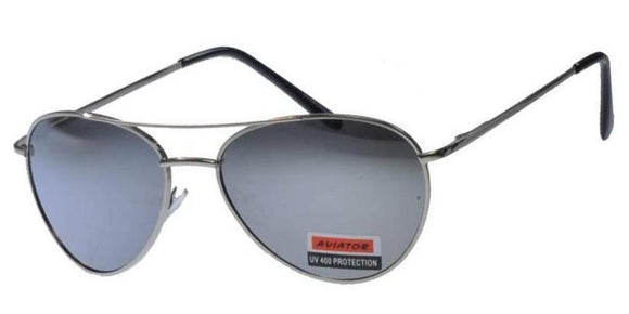 F6149EZ Small Silver Mirror Aviator