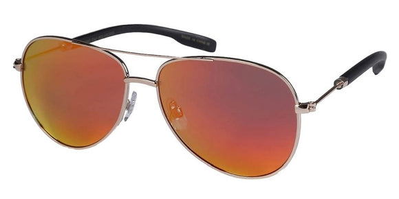 PRV36176UI Red Polarized Aviator Sunglasses