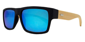 prv8986ez Ice Blue Bamboo Polarized Multi-Layer Color Mirror Lens