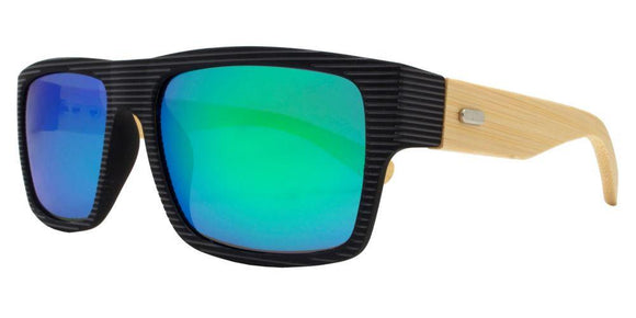 prv8986ez Green Bamboo Polarized Multi-Layer Color Mirror Lens