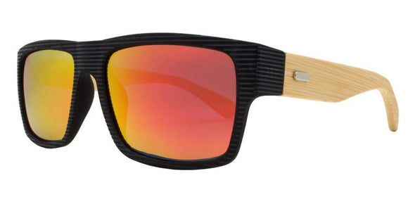 prv8986ez Red Bamboo Polarized Multi-Layer Color Mirror Lens