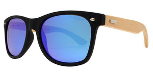 p8951ez Ice Blue Bamboo Polarized Sunglasses