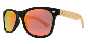 p8951ez Red Bamboo Polarized Multi-Layer Color Mirror Lens