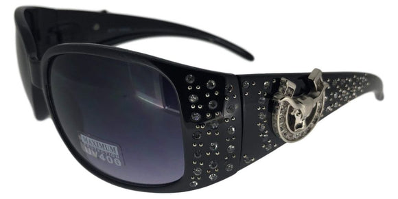 L9188ez Ram Black Cowgirl Sunglasses