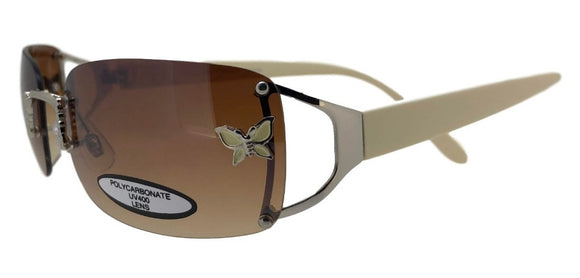 L8498 Brown Butterfly Sunglasses