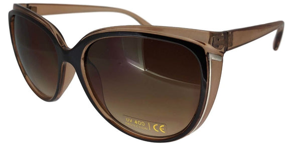 F0063B Brown 2-Tone Cat Eye Sunglasses