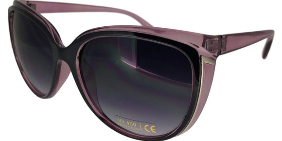 F0063B Purple 2-Tone Cat Eye Sunglasses