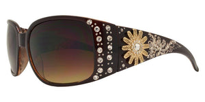 L9224ez Sun Brown Cowgirl Sunglasses
