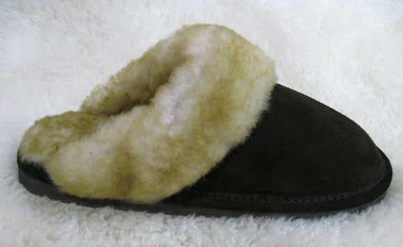 Scuff Slipper - Stoney Brown - Rubber Sole (Women's)