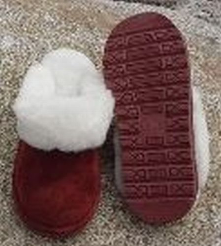 Scuff Slipper - Wine - Rubber Sole (Women's)