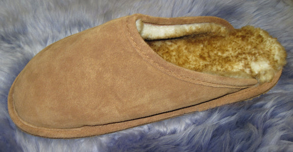 Scuff Slipper - Stoney Fleece - Rubber Sole (Men's)