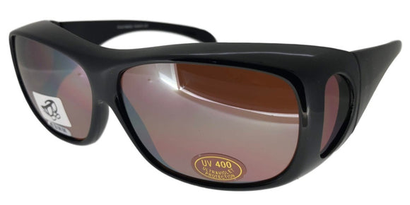 fo54200b Medium Amber Driving Fit Over Sunglasses