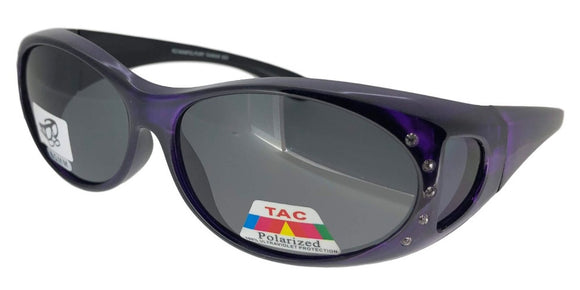 fors81107b Rhinestone Ladies Purple Polarized Fit Over