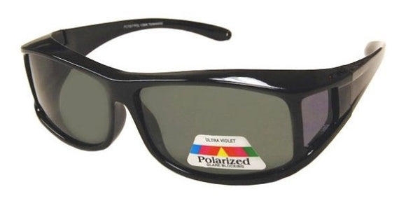 fo8188b Medium Rectangle Black Polarized Fit Over Sunglasses