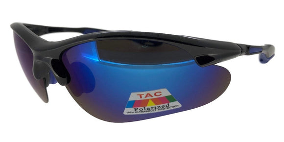 PRV7395QS Blue/Black Polarized Sport TAC Lens Sunglasses