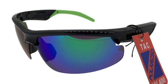 PRV681133UI Green Polarized TAC Multi-Layer Color Mirror Sunglasses