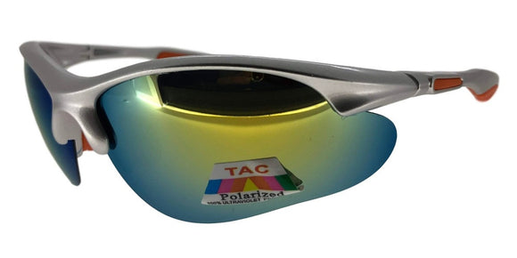 PRV7395QS Yellow/Silver Polarized Sport TAC Lens Sunglasses