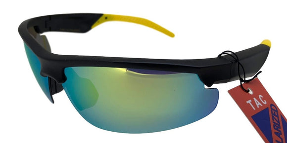 PRV681133UI Yellow Polarized TAC Multi-Layer Color Mirror Sunglasses