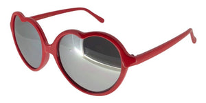 6M-1142GG Red Heart Sunglasses
