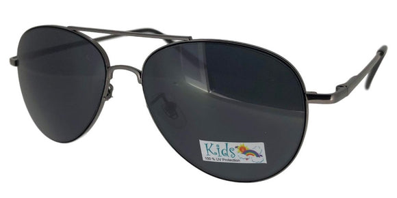 K2215 Black Aviator Kids Sunglasses