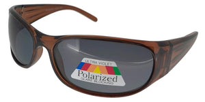K2112B Brown Kids Polarized Wrap Sunglasses
