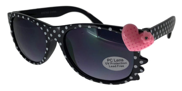 K7818QX Black Dots Kids Wayfarer Sunglasses