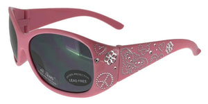 K7801QS Pink Butterfly Kids Sunglasses