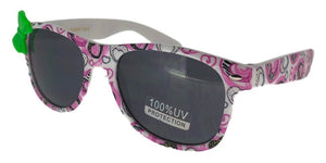 K21GG Pink Heart Kids Wayfarer Sunglasses