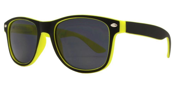 K5682EZ Yellow Shadow Kids Wayfarer Sunglasses