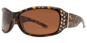 pL8919ez Brown Ladies Rhinestone Polarized Sunglasses