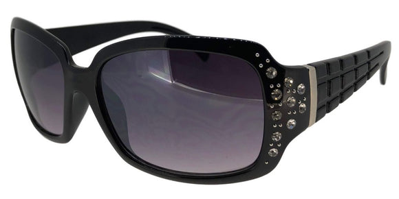 F19EZ Black Ladies Rhinestone Sunglasses