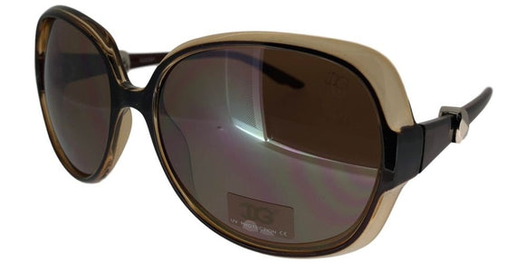 6-0402 Brown Ladies 2-Tone Sunglasses
