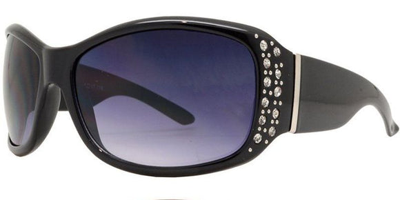 F8919EZ Black Ladies Rhinestone Sunglasses