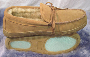 Moccasin Slipper - TPR Sole - Stoney Fleece (Women's and Men's)