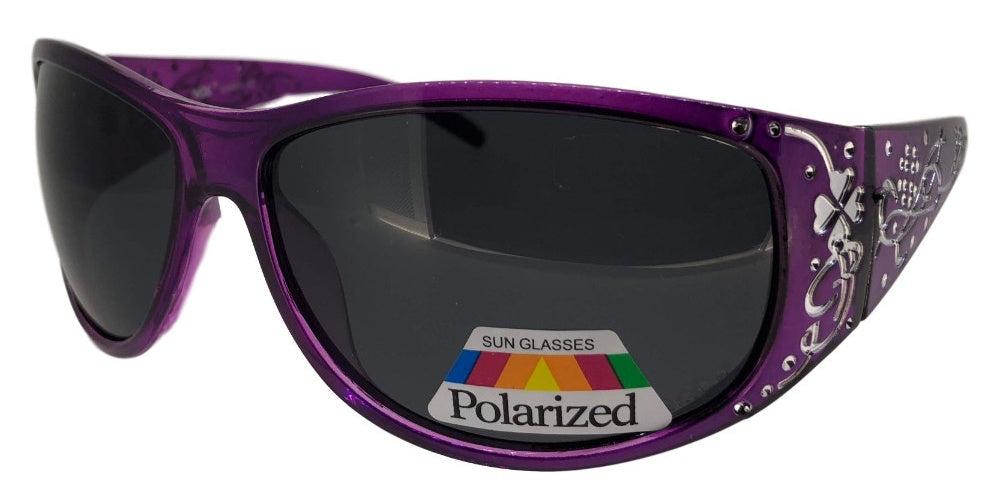 e2ef580a37 pL74130qm Purple Ladies Rhinestone Polarized Sunglasses – Abby ...