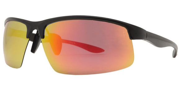 PRV098EZ Red Mirror Aluminum Frame Polarized Sunglasses