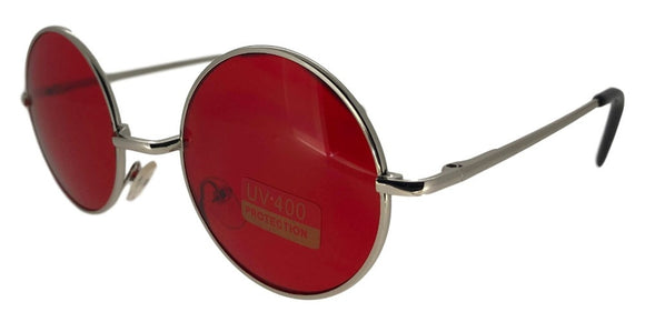F0514 Red Round Sunglasses