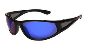 F8442B Blue Wrap Around Sunglasses