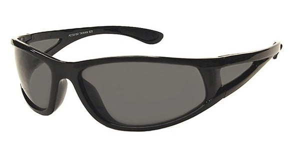 F8442B Black Wrap Around Sunglasses
