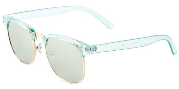F41349 Green Silver Mirror Soho Sunglasses