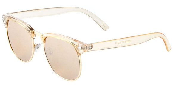 F41349 Peach Silver Mirror Soho Sunglasses