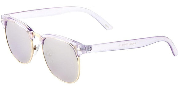 F41349 Purple Silver Mirror Soho Sunglasses