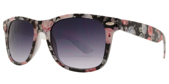 6-8221EZ Flower Wayfarer Sunglasses