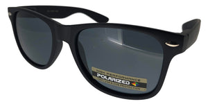 p12k Black Wayfarer Polarized Sunglasses