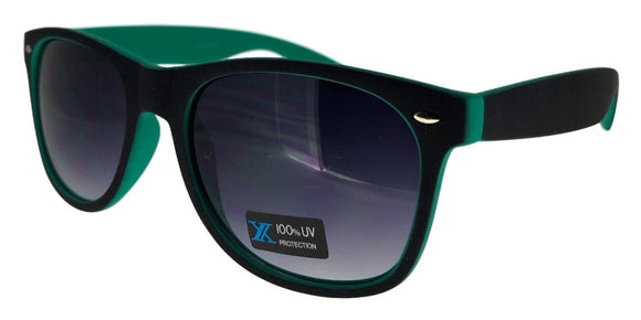 6-9557EZ Green Shadow Wayfarer Sunglasses