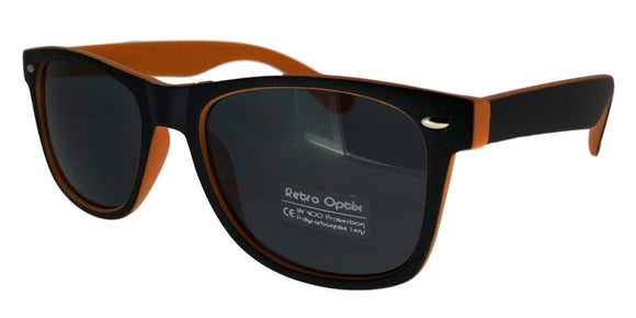 6-153KZ Orange Shadow Wayfarer Sunglasses