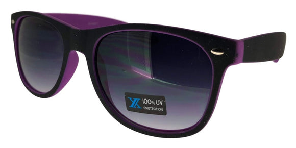 6-9557EZ Purple Shadow Wayfarer Sunglasses