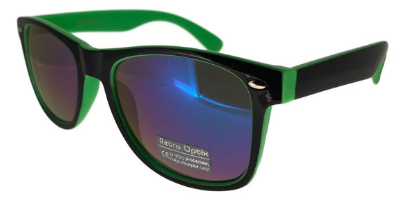 6RV-153KZ Green Shadow Wayfarer Sunglasses